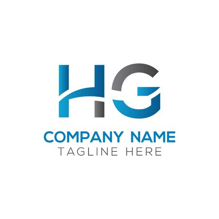 HG Logo Design Vector Template. Initial Linked Letter HG Vector Illustration