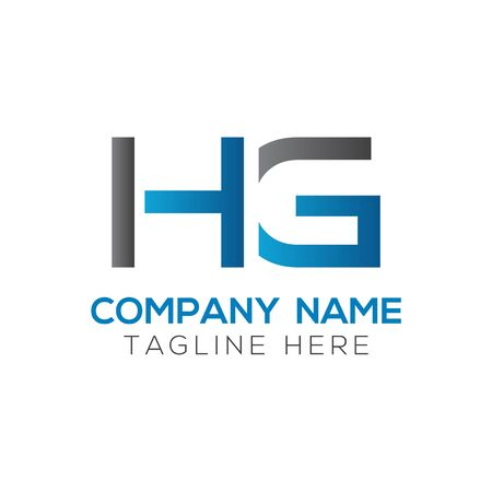 HG Logo Design Vector Template. Initial Linked Letter HG Vector Illustration