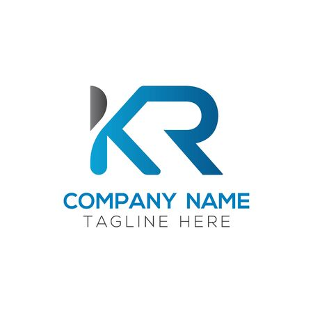 Initial ALphabet KR Logo Design vector Template. Abstract Letter KR Linked Logo Logo