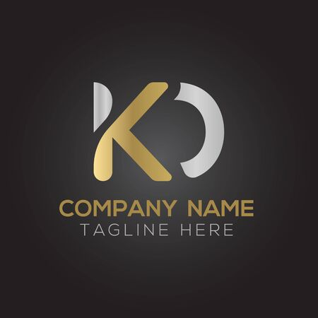 Initial ALphabet KD Logo Design vector Template. Abstract Letter KD Linked Logo