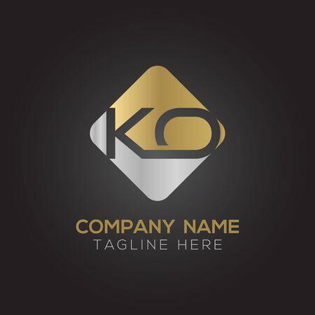 Initial ALphabet KO Logo Design vector Template. Abstract Letter KO Linked Logo