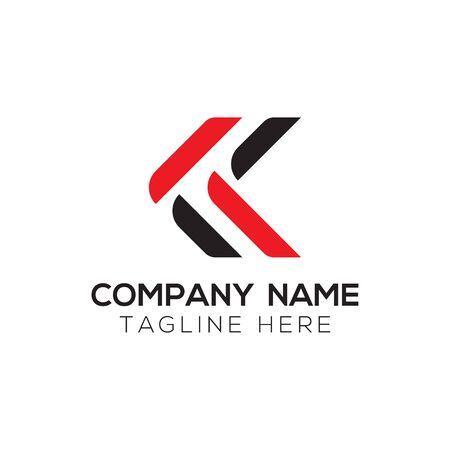 Initial ALphabet KK Logo Design vector Template. Abstract Letter KK Linked Logo