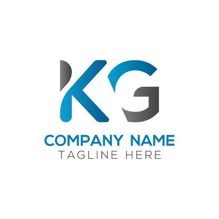 Initial ALphabet KG Logo Design vector Template. Abstract Letter KG Linked Logo