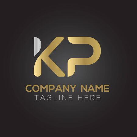 Initial ALphabet KP Logo Design vector Template. Abstract Letter KP Linked Logo