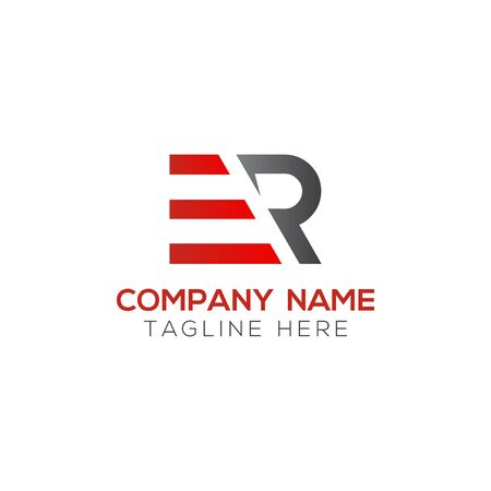 Initial ER Letter Logo With Creative Modern Business Typography Vector Template. Creative Abstract Letter ER Logo Design