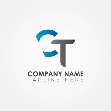 Initial CT Letter Logo With Creative Modern Business Typography Vector Template. Creative Abstract Letter CT Logo Design