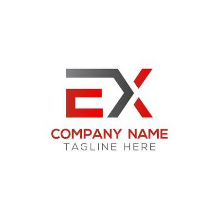Initial EX Letter Logo With Creative Modern Business Typography Vector Template. Creative Abstract Letter EX Logo Design Logo