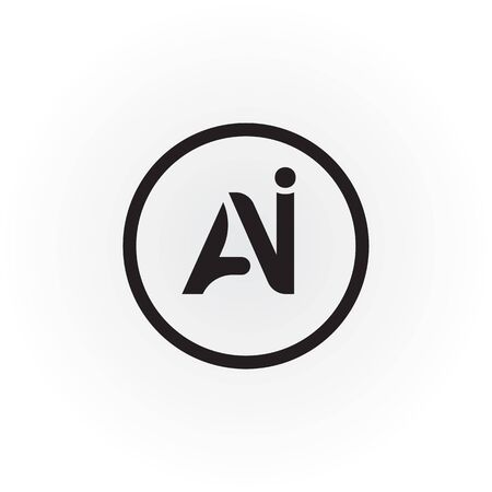 Initial AI Letter Logo With Creative Modern Business Typography Vector Template. Creative Abstract Letter AI Logo Design