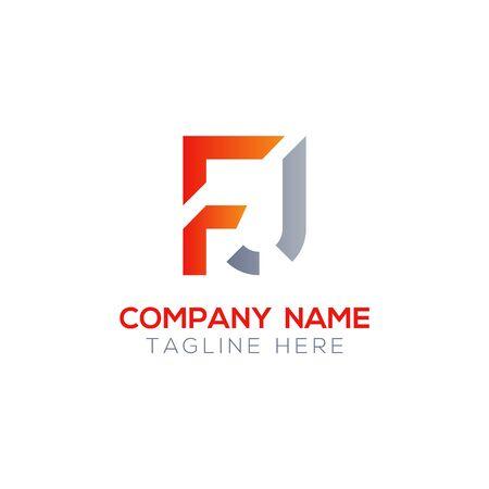 Initial Letter FJ Logo Design Vector Template. Creative Linked Alphabetical FJ Logo Vector