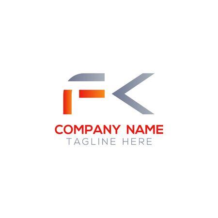 Initial Letter FK Logo Design Vector Template. Creative Linked Alphabetical FK Logo Vector