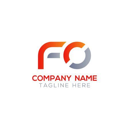 Initial Letter FO Logo Design Vector Template. Creative Linked Alphabetical FO Logo Vector Logo