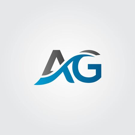 Initial AG Letter Logo With Creative Modern Business Typography Vector Template. Creative Abstract Letter AG Logo Design Illustration