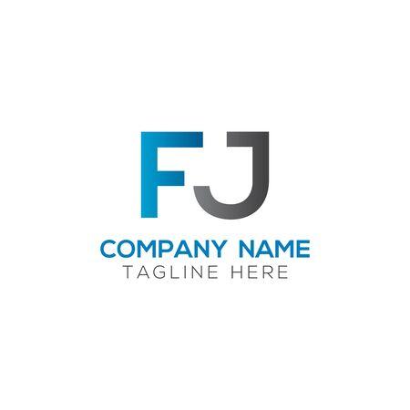 Initial Letter FJ Logo Design Vector Template. Creative Linked Alphabetical FJ Logo Vector Logó