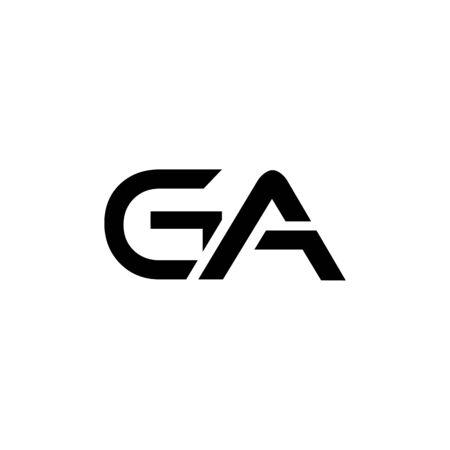 Initial GA Letter Linked Logo. GA Creative Letter Logo Design vector Template. Abstract Letter GA logo Design Logo