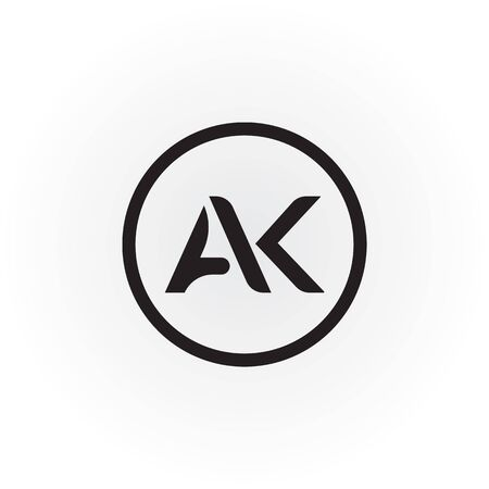 Initial AK Letter Logo With Creative Modern Business Typography Vector Template. Creative Abstract Letter AK Logo Design Logo