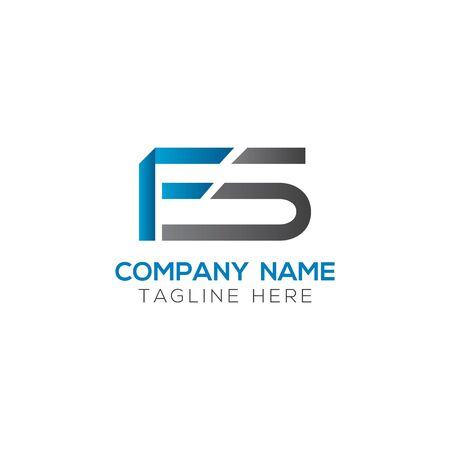 Initial Letter FS Logo Design Vector Template. Creative Linked Alphabetical FS Logo Vector Ilustração