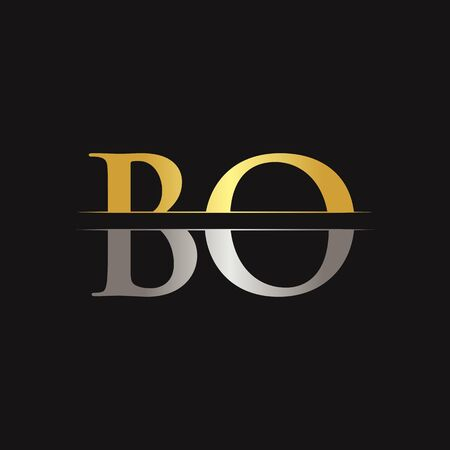 Initial BO Letter Logo With Creative Modern Business Typography Vector Template. Creative Abstract Letter BO Logo Design Çizim