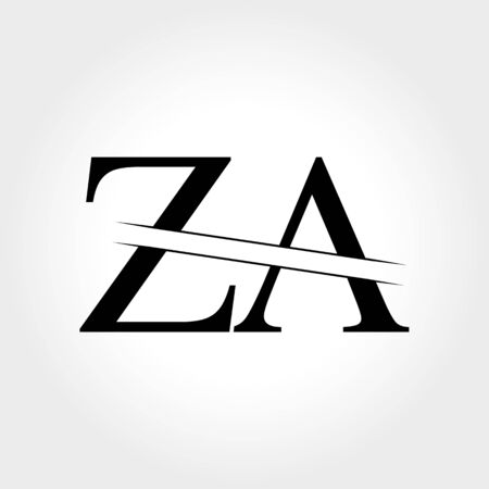 Initial ZA Logo Design Vector Template. Creative Letter ZA Business Logo Vector Illustration Logo