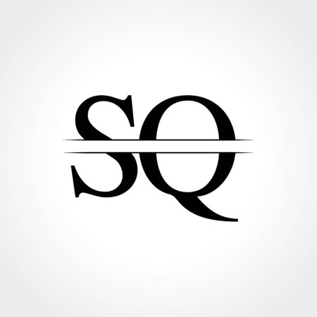 Initial Letter SQ Logo Design Vector Template. SQ Letter Logo Design