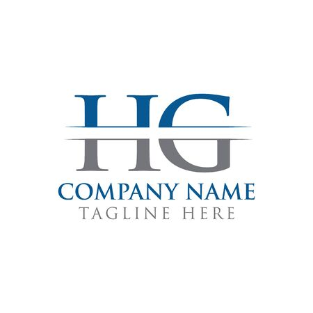 HG letter Type Logo Design vector Template. Abstract Letter HG logo Design