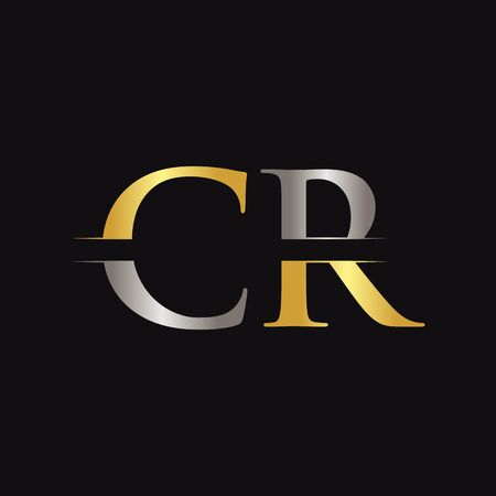 Initial CR Letter Logo With Creative Modern Business Typography Vector Template. Creative Abstract Letter CR Logo Design