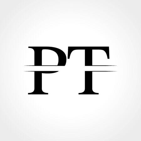 Initial Monogram Letter PT Logo Design Vector Template. Abstract PT Letter Logo Design