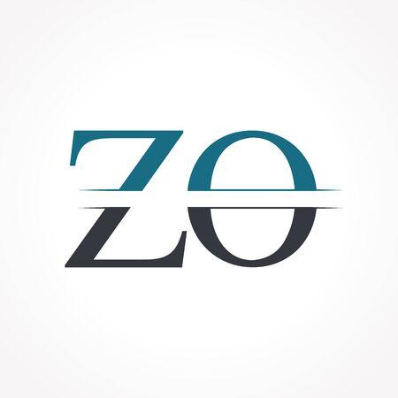 Initial ZO Logo Design Vector Template. Creative Letter ZO Business Logo Vector Illustration Logo