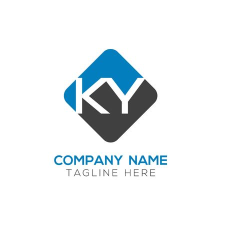Initial ALphabet KY Logo Design vector Template. Abstract Letter KY Linked Logo Stock Illustratie