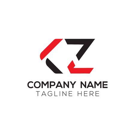 Initial ALphabet KZ Logo Design vector Template. Abstract Letter KZ Linked Logo