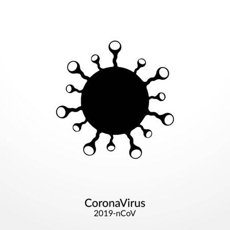 Coronavirus disease (COVID-19) Icon Illustration.  イラスト・ベクター素材