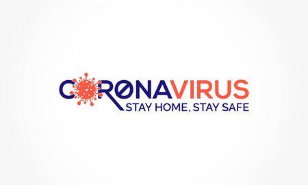 Coronavirus disease (COVID-19) Social Awareness Design. 2019-nCov / Novel Corona Virus Awareness Typography Vector Template