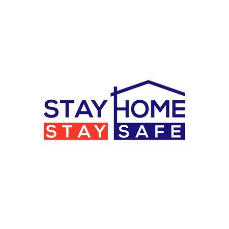 Coronavirus disease (COVID-19) Social Awareness Design. 2019-nCov / Novel Corona Virus Stay Home & Stay Safe Awareness Typography Vector Template