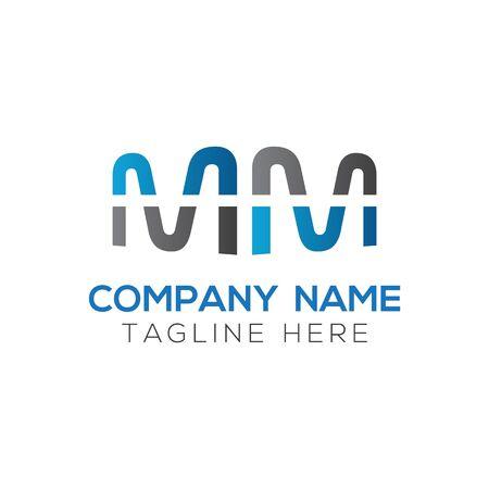 Initial MM letter Logo Design vector Template. Abstract Letter MM logo Design Logo