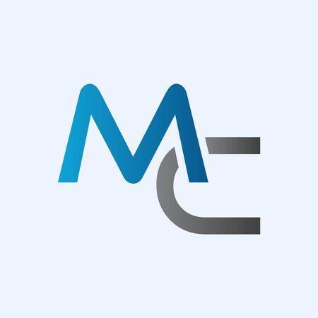Initial MC letter Logo vector Template. Abstract Letter MC logo Design. Minimalist Linked Letter Trendy Business Logo Design Vector Template.
