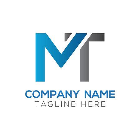 Initial MT letter Logo Design vector Template. Abstract Letter MT logo Design Logo