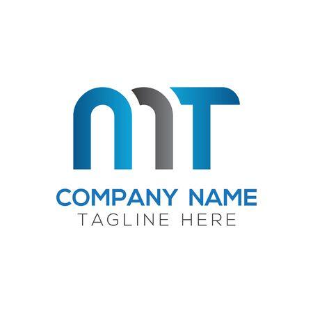 Initial MT letter Logo Design vector Template. Abstract Letter MT logo Design
