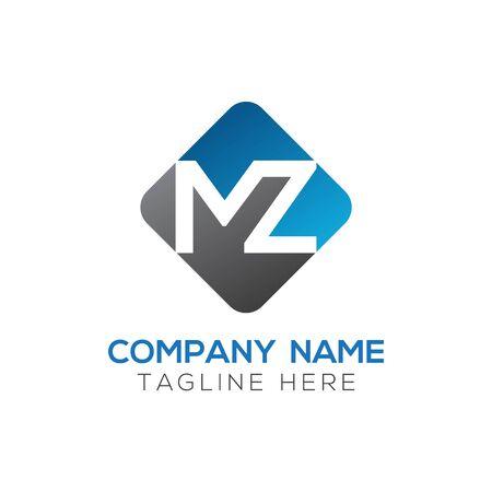 Initial MZ letter Logo Design vector Template. Abstract Letter MZ logo Design Logó