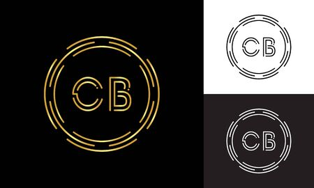 Initial CB Letter Logo Business Typography Vector Template. Digital Abstract Letter CB Logo Design