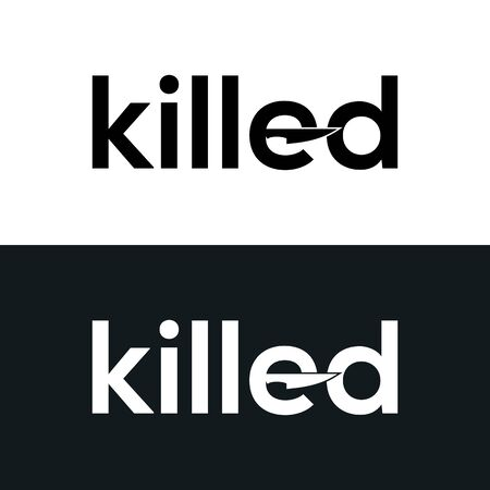 Killed Typography Word Letter Logo Design Vector Template. Killed Word Logo For Business Typography Design