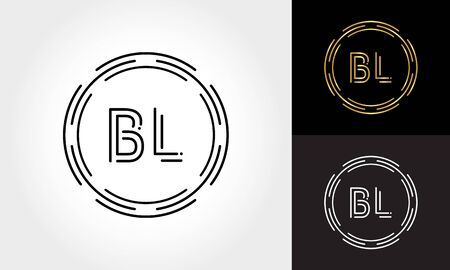 Initial Letter BL Logo Creative Typography Vector Template. Digital Abstract Letter BL Logo Design