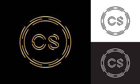 Initial CS Letter Logo Business Typography Vector Template. Digital Abstract Letter CS Logo Design
