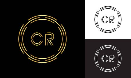 Initial CR Letter Logo Business Typography Vector Template. Digital Abstract Letter CR Logo Design