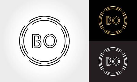 Initial Letter BO Logo Creative Typography Vector Template. Digital Abstract Letter BO Logo Design