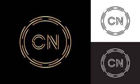 Initial CN Letter Logo Business Typography Vector Template. Digital Abstract Letter CN Logo Design