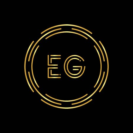 Initial EG Letter Logo With Creative Modern Business Typography Vector Template. Digital Abstract Letter EG Logo Design