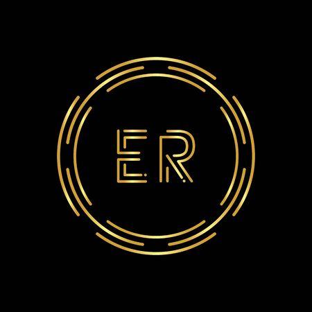 Initial ER Letter Logo With Creative Modern Business Typography Vector Template. Digital Abstract Letter ER Logo Design