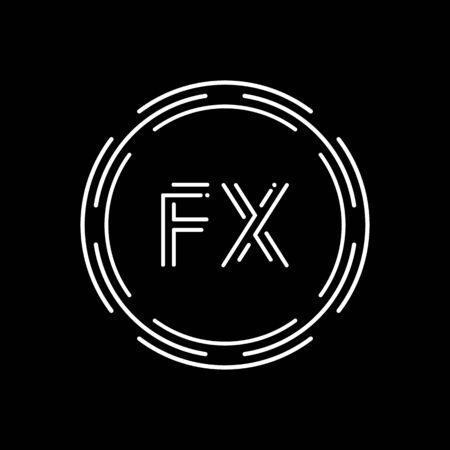 Initial Letter FX Logo Design Vector Template. Creative Linked Alphabetical FX Logo Vector