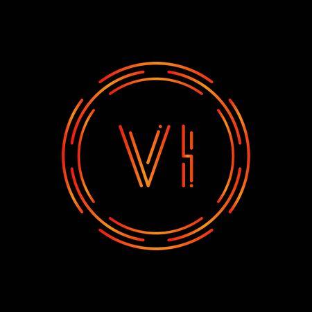 Creative Letter VI Logo Creative Typography Vector Template. Digital Abstract Letter VI Logo Design.