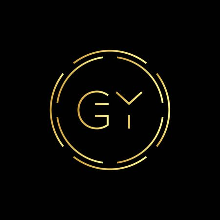Initial Letter GY Creative Logo Design vector Template. Digital Luxury Letter GY logo Design