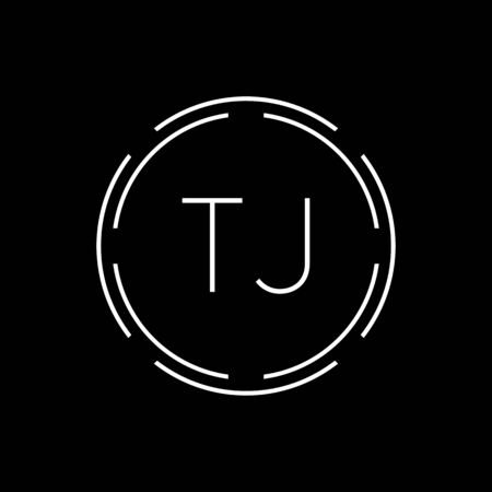 Initial Letter TJ Logo Creative Typography Vector Template. Circle Letter TJ Logo Design